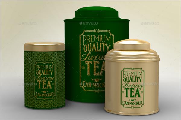 Luxury Tea Packaging Mockup