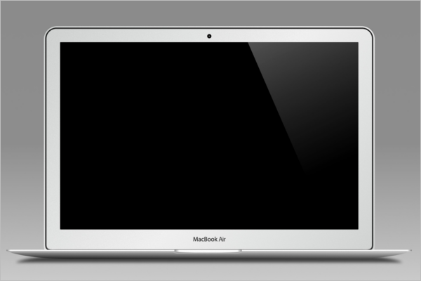 Macbook Air Mockup Design