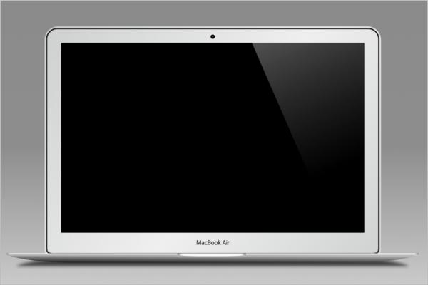 Macbook Air Mockup Design