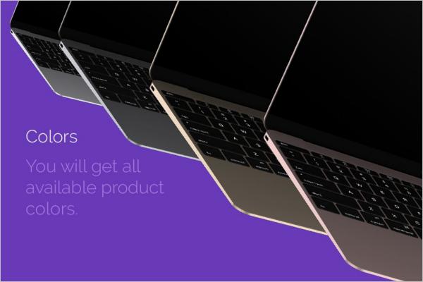 Macbook Computer Mockup Design