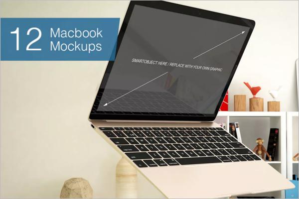 Macbook Gold Screen Mockup