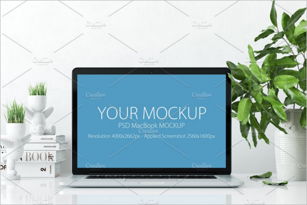 Macbook Mockup Design Vector