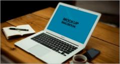 63+ MacBook Mockups PSD Templates