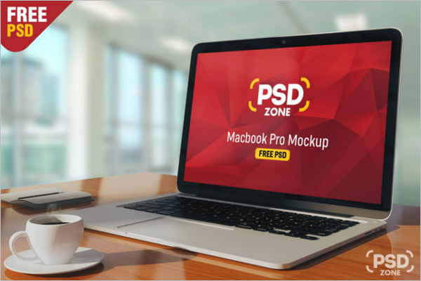 Macbook Pro Mockup Free Vector