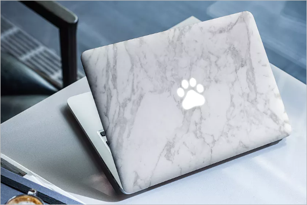 Macbook Skin Mockup Design