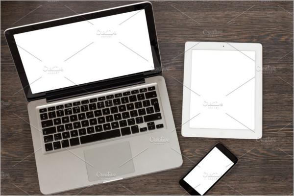 Macbook With ipad Mockup Design