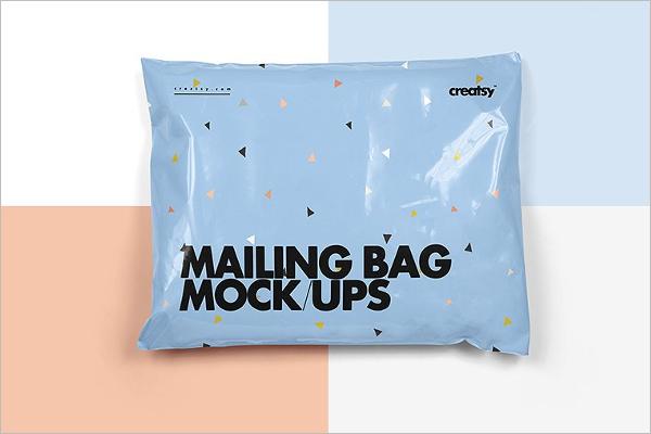 Mailing Paper Bag Mockup Design