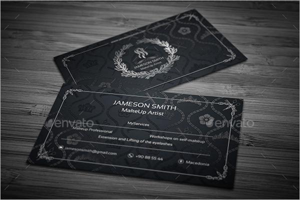 Makeup Artistic Black Business Card Design