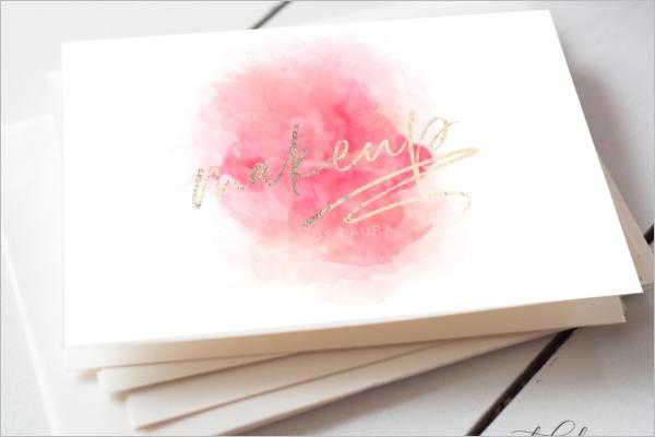 Makeup Artistic Business Card Clean Design