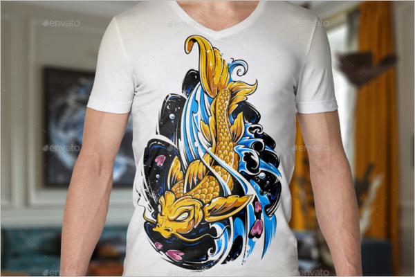 Male T-Shirt Mockup Design