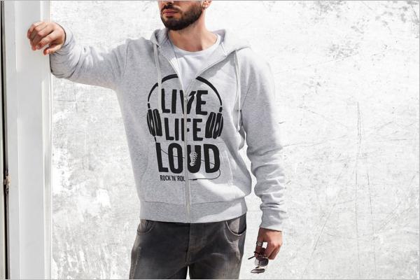 Man Hoodie Fashion Mockup Design