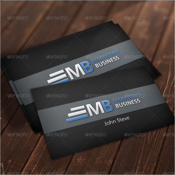 Marketing Black Business Card Template