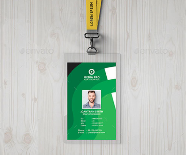 Marketing ID Card Template
