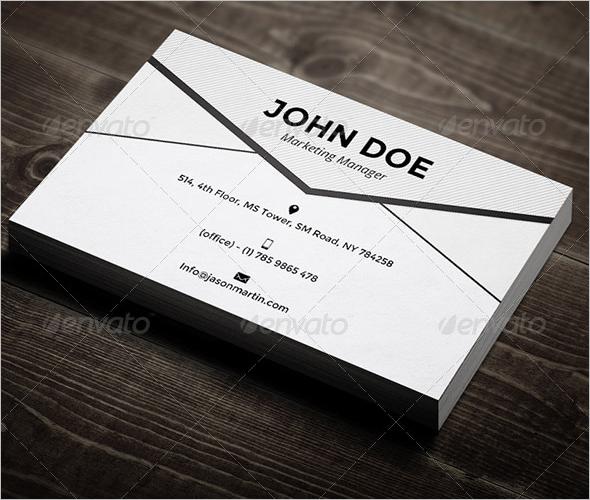 Marketing Manager Business Card Design