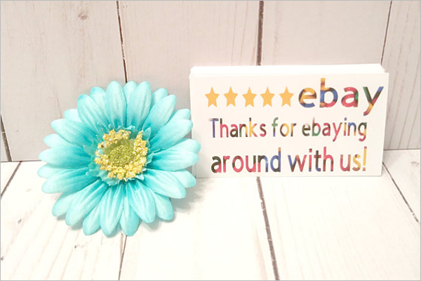 Online Store Thank You Business Card Template