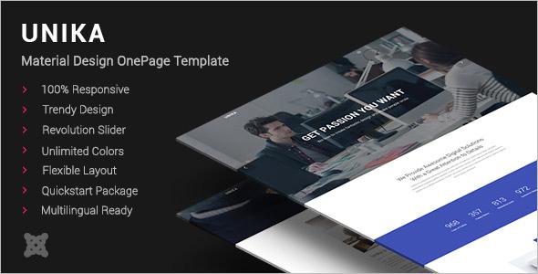 Material Design Joomla Template