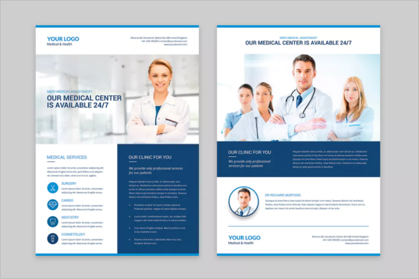 25 Medical Flyer Templates Free Word Psd Designs