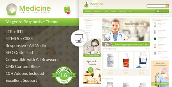 Medical Store Prestashop Theme