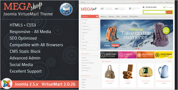 Mega Store Virtuemart Template