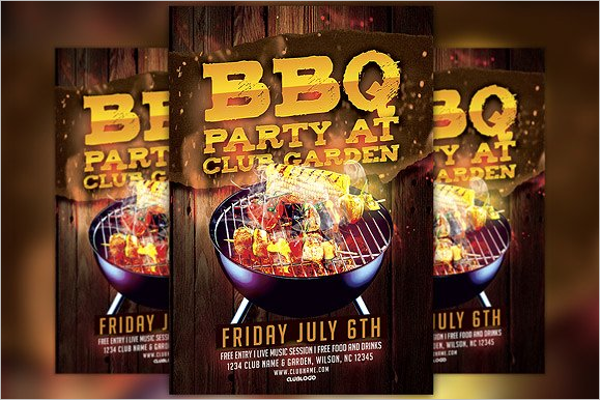 Memorial Day BBQ Flyer Template