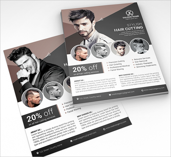 Men's Beauty Salon Flyer Example