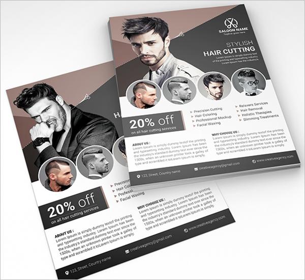 Men'sBeauty Salon Flyer Example