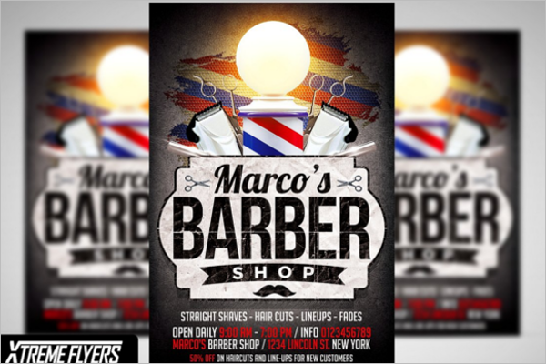 Men's Beauty Salon Flyer Template