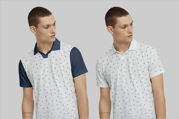 Mens Polo t-Shirt Mockup Set