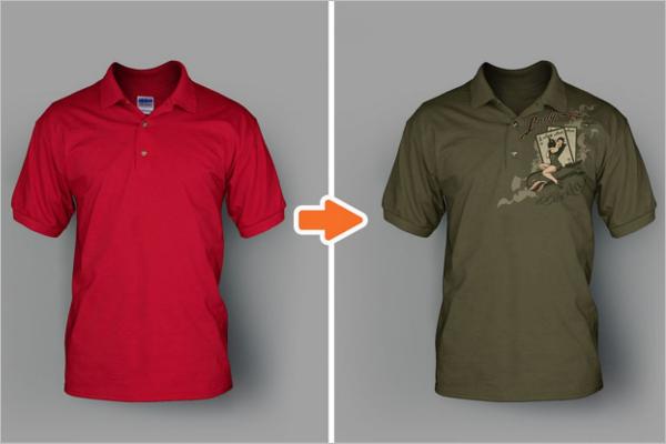 Mens Polo t-shirt Mockup