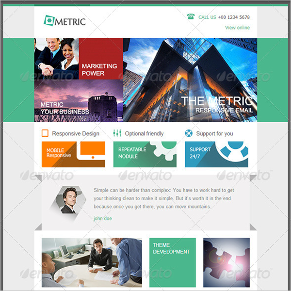 Metric Email Template Design