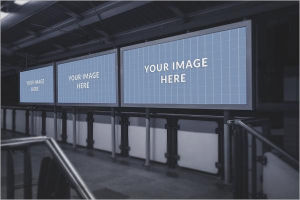 Metro Billboard Mockup Design