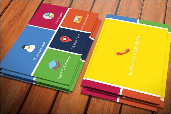 Metro Business Card Template