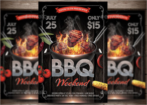 Microsoft BBQ Flyer Template