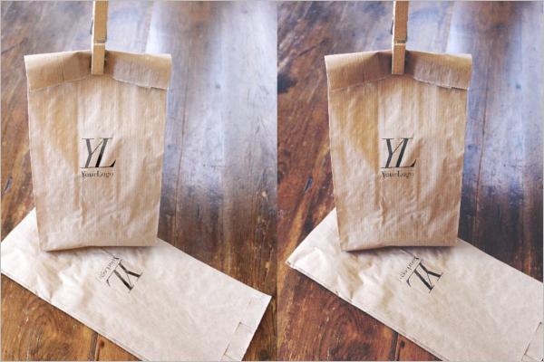 Mini PSD Paper Bag Mockup Design