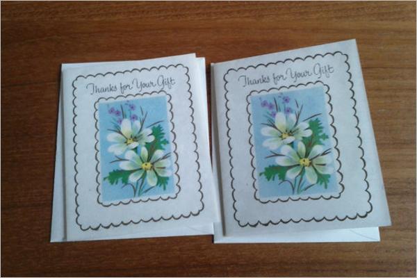 Mini Thank You Card Template