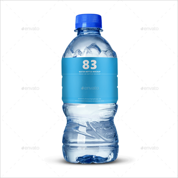 MiniWater Bottle Mockup