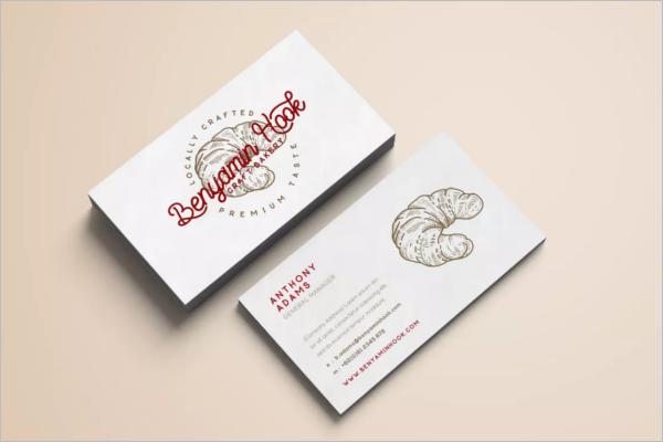 Minimal Bakery Business Card