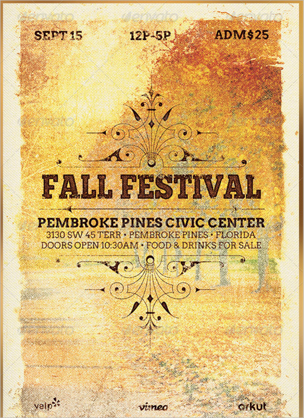 Minimal Fall Flyer Template