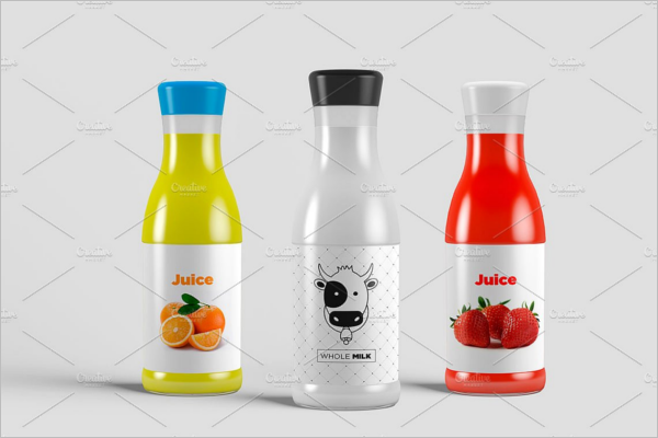 Minimal Juice Bottle Mockup Design