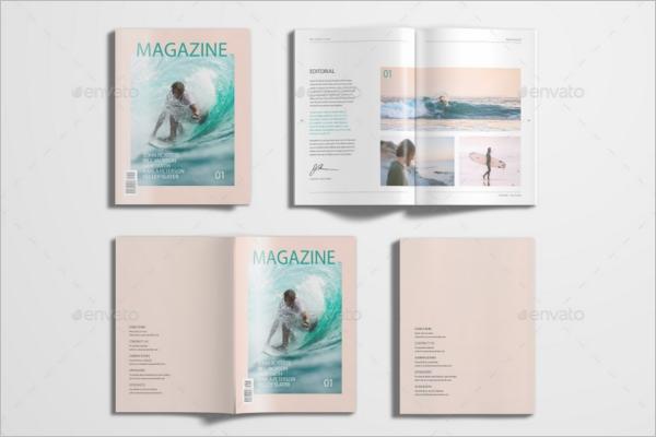 Minimal Letter Magazine Mockup Design