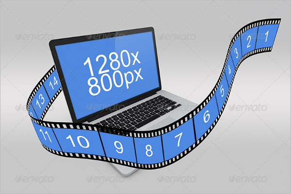 Minimal Macbook Mockup Design