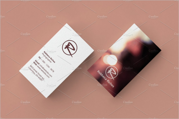 Minimal Photographer Business Card Design
