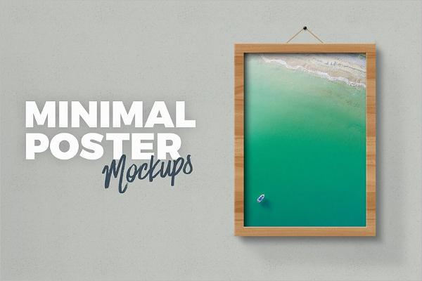 Minimal Poster Mockup Design