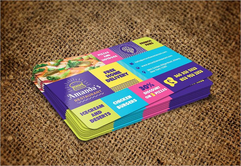 Minimal Restaurant Business Card Template