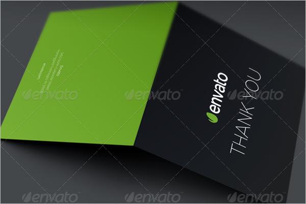 Minimal Thank You Card Template