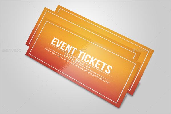 Minimal Ticket Mockup Design