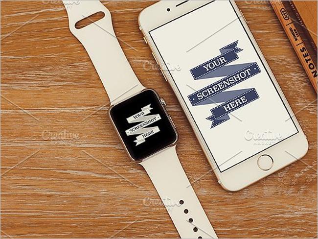 Minimal Watch Mockup Design