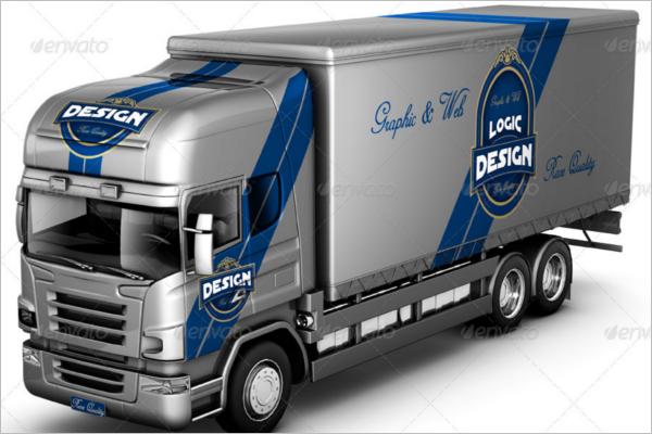 Minimalist Truck Mockup Design