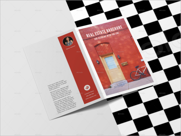 Minimalistic A4 Brochure Mockup Design