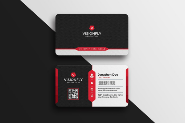 Minimalistic Corporate Business Card Template